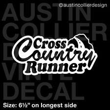 "6.5"" CROSS COUNTRY RUNNER vinyl decal car window laptop sticker - cc track team"