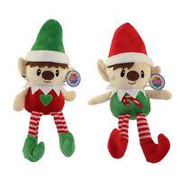 Generic Value Plush - SET OF 2 HOLIDAY ELVES (Boy & Girl Elf)(9 inch) - New