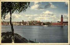 Stockholm Schweden Aussicht von Söderbergen Stadshus 1956 Nachgebühr-Stempel