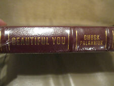 BEAUTIFUL YOU, CHUCK PALAHNIUK new signed 1st edition, leather, shrink wrap
