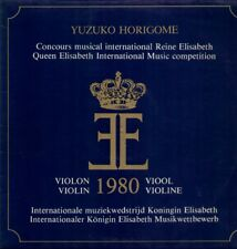 Sibelius, van Rossum Violin Concerto, Yuzuko Horigome, Queen Elisabeth 1980 LP