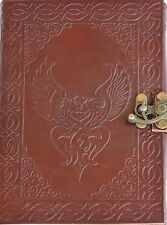 Handmade Celtic Birds Tooled Leather Blank Journal Diary Notebook Book (559)