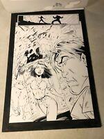 MAXIMAGE #1 original art early IMAGE 1995 LIEFELD STORY KRAKADOOM SPLASH PAGE