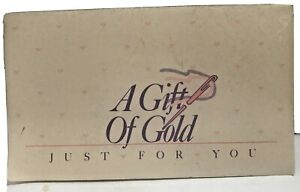 Vintage A Gift of Gold 24K Gold Plated #26 Tapestry Needle Karen Strauss Sealed