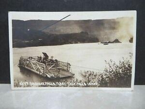 Twin Falls Idaho Shoshone Falls Ferry RPPC photo postcard