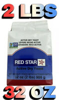 Red Star Active Dry Yeast- 2 lbs 32oz Bread Fast Handling and Shipping Exp 09/22