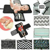Baby Portable Foldable Diaper Travel Changing Pad Waterproof Mat Bag Storage Pad