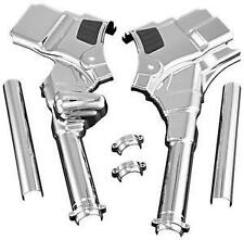 Harley-Davidson FLTR Road Glide 2008Deluxe Neck Covers Chrome by Kuryakyn
