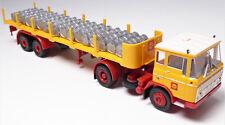 H0 BREKINA DAF Zugmaschine Sattelzug Rungen Shell Fässer Benzin Diesel # 85262