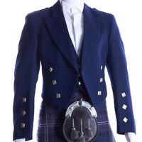 Boys & Mens Navy Scottish Prince Charlie Kilt Jacket & Waistcoat/Vest (All Size)