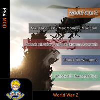 World War Z (PS4 Mod)-Max EXP/Money/Coin/All Weapons/GearCharacter Bios/Rewards