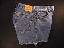 LEVIS Zipper 550 CUTOFF JEAN SHORTS Cut Off 31 Denim Red Tab High Waisted