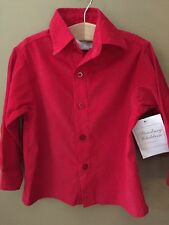 Boys 24 Months Boutique Strasburg Red Corduroy Shirt New Nwt Christmas Holiday
