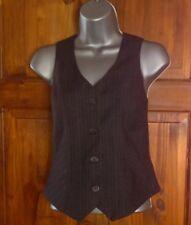ladies waist coat by george size 14 grey pin stripe