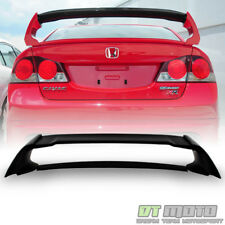 For Matte Blk 2006-2011 Honda Civic FA 4-Dr Sedan MG Style Rear FRP Spoiler Wing