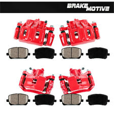 For Eagle Talon Mitsubishi Eclipse AWD Front+Rear Brake Calipers + Ceramic Pads