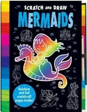 Scratch and Draw Book MERMAIDS - Magic Novelty Coloring Book -Fun Gift Present