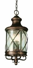 "Trans Globe 5126 ROB Outdoor Chandler 25.25"" Hanging Lantern, Rubbed Oil Bronze"