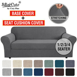 2 Pieces Stretch Sofa Covers Couch Covers Sofa Slip Covers Form Fit 1/2/3 Seater