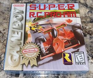 NINTENDO GAMEBOY - SUPER RC PRO-AM Game COMPLETE New FACTORY SEALED H-Seam NGB
