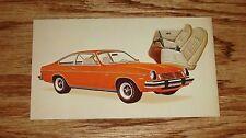 Original 1974 Chevrolet Vega GT Hatchback Coupe Post Card 74 Chevy