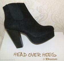 Dune Patternless Zip Block Heel Boots for Women