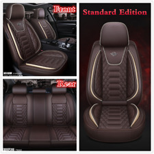 Full Set Luxury PU Leather 5-Seats Car Seat Cover Cushions Interior Accessories