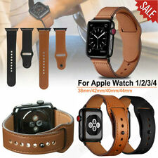 Für Apple Watch Series 38/42/40/44 mm 5/4/3/2 Echtes Leder Armband Band Bracelet