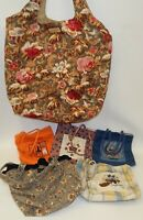 Lot of Longaberger Homestead Totes & Lunch Bags Floral and Holiday