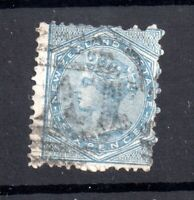 New Zealand 1874 6d blue (mixed Perf) SG163 used Cat Val £50 WS20434