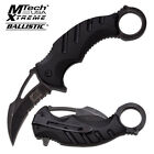 Mtech Xtreme Spring Assisted Karambit Knife New with Tactical Pommel MX-A833BK