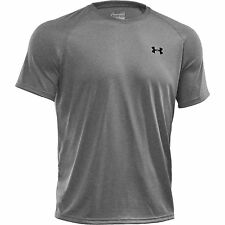 Under Armour Tech manga corta camiseta T-Shirt gris Heather L