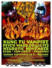 "TWIZTID / KUNG FU VAMPIRE ""THIS WAY TO HELL TOUR"" 2014 SEATTLE CONCERT POSTER"