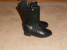 NEW, Toddler Girls Size 9 Tall Black Fashion Boots Wonder Nation