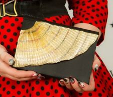 Vintage rainbow gold pleated lurex evening bag by Walborg clutch / shoulder bag