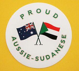 PROUD AUSSIE - SUDANESE AUSTRALIAN STICKER SUDAN VINYL DECAL CAR TRUCK CARAVAN