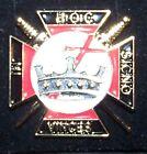 Medieval Masonic Knights Templar Uniform Cross In Hoc Signo Vinces Sword War Pin