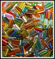 Glass Bugle Beads U Pick Black White Gold Red Turquoise