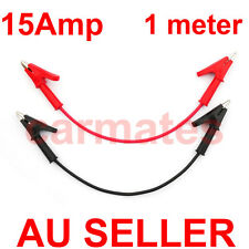 Test Leads for Multimeter Meter Power Clips alligator High Current Soft cable