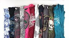 Express Ed Hardy Lot of 11 Juniors Short/Long Sleeve Shirts Small S [C12870]