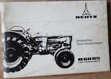 Deutz Schlepper D 6005 Ersatzteilliste