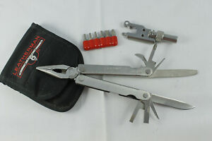 Rare Leatherman Tool w/ Bit Adapter, Bits, Pouch. Unused Cond. Portland, OR.