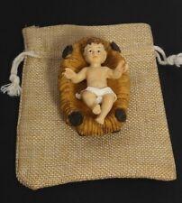"Baby Jesus crib 3"" Figurine Christmas Holiday gift Jesus nativity set bethlehem"