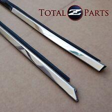 Datsun 240z 260z 280z Upper Door Chrome Window Mouldings Trim Set, LH & RH *NOS*