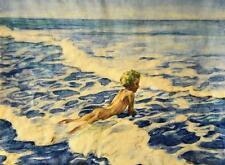 Hela Peters-ebbecke 1885-1973 Bonn/ACQUERELLO 1931/Lutz sulla spiaggia di Langeoog