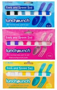 NEW Lunch Punch Fork & Spoon Set - Bento Accessories - Food Grade