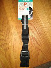 Large ASPCA Adjustable LED Dog Collar Black And Grey