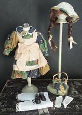 """Antique Reproduction Style 12"""" Dress Ensemble for Antique Bisque 00004000  & Artist Dolls"""
