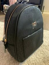 GUESS WOMENS BRIDGES LOGO G NYLON BACKPACK BLACK NWT