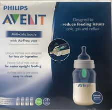 Philips Avent Anti-colic Baby Bottle with AirFree vent 9oz, 4pk, Scf403/44
